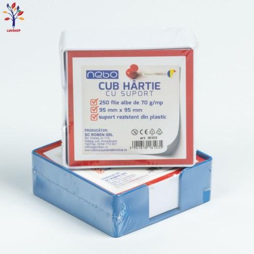 Cub hartie cu suport  plastic