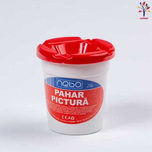 Pahar plastic pentru pictura