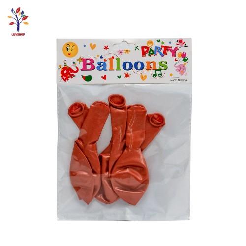 Baloane latex 6 buc/set corai inchis sidef