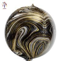 Baloane folie 4D negru gold marmorate
