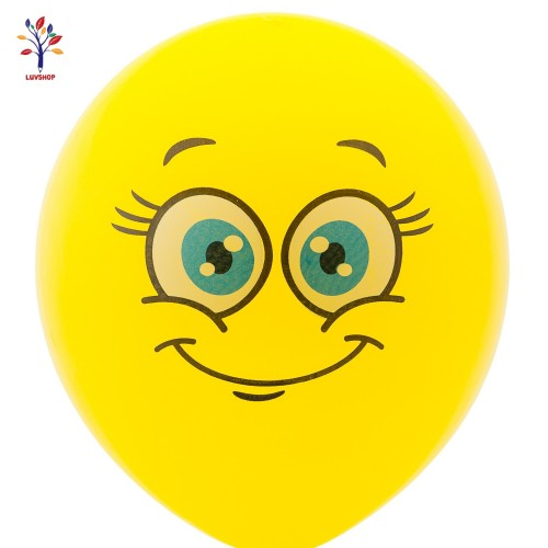 "Baloane latex 100 buc/set 12"" smile face"