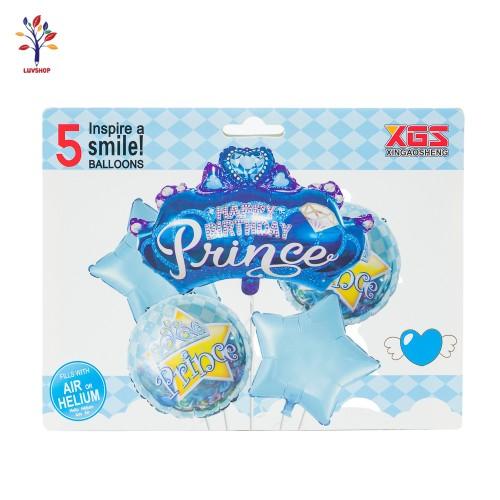 Baloane folie 5 buc/ set PRINCE