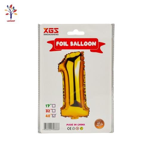 "Baloane folie cifra 1 40"" auriu"