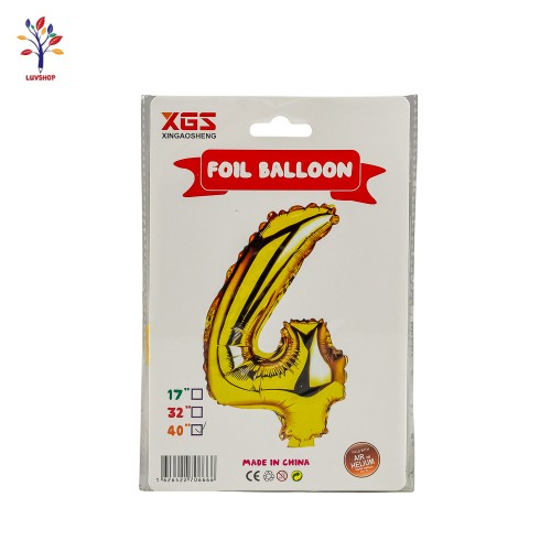"Baloane folie cifra 4 40"" auriu"