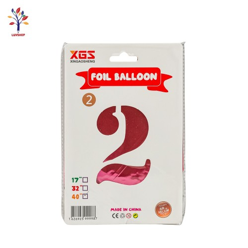 "Baloane folie cifra 2 40"" curcubeu"