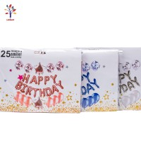 Baloane 25 buc/set folie + latex Happy Birthday