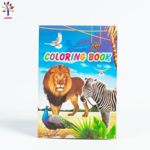 Caiet de colorat 8 + 2 pg A5  animale/flori/inimi