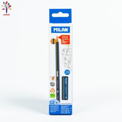 Creioane MILAN grafit 2B