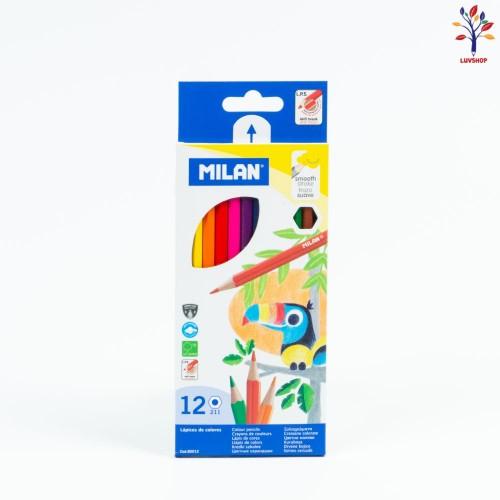 Creioane MILAN colorate  12 cul/set