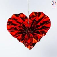 Decor party inimi rosii din hartie 6 buc/set